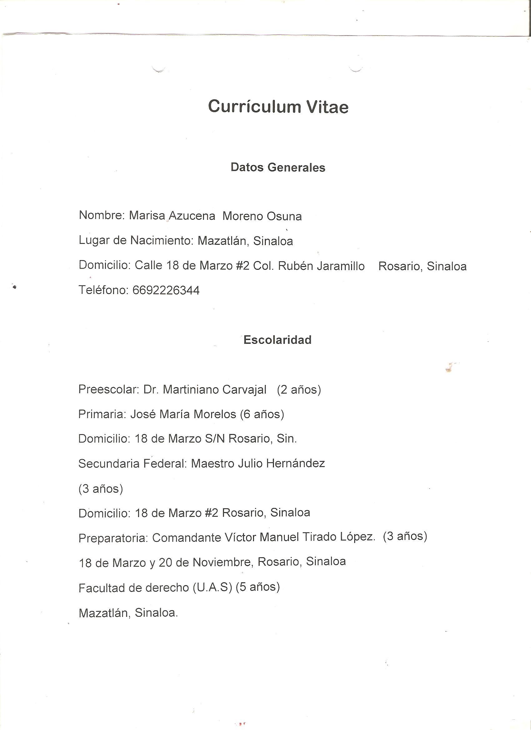 Excepcional Ejemplo De Curriculum Vitae De Hospitalidad Motivo ...