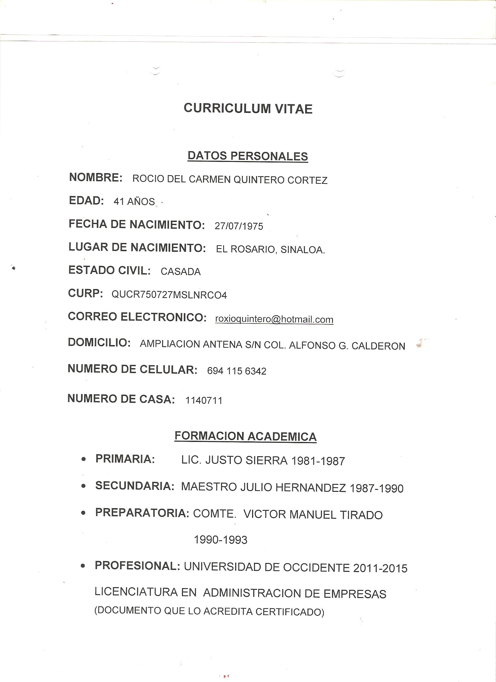 Excelente Analista De Negocios Curriculum Vitae Archivo Tipo ...